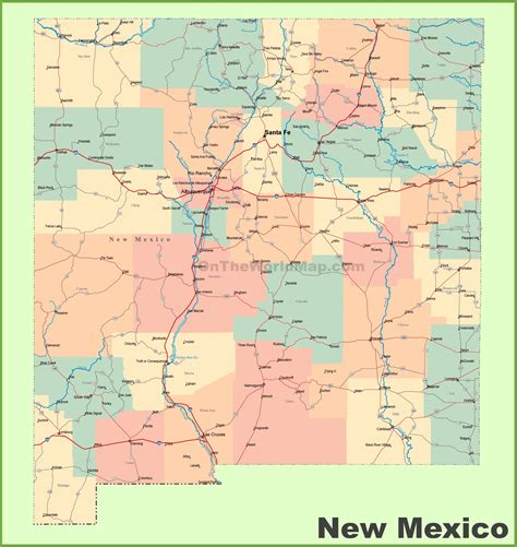 map of texas and new mexico cities new mexico state map with cities mexico map