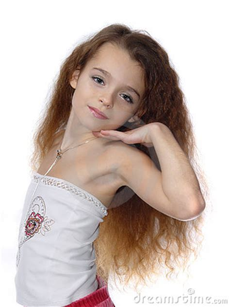 little young female models little girl expressing photo model stock photo image