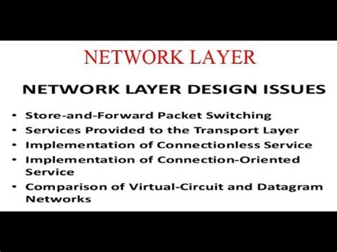 design issues network layer design issues youtube