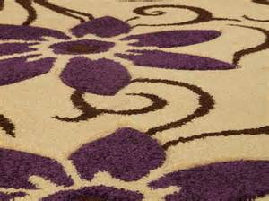 chloe carmen cream purple rug