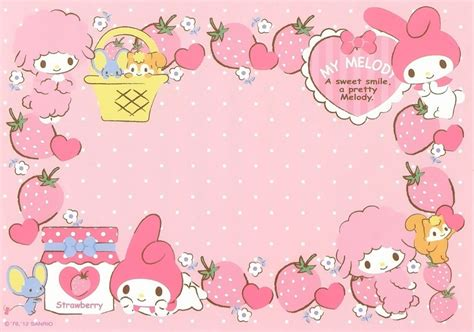 Mukena My Melody Sweet Pink my melody strawberry wallpaper pink and sweet