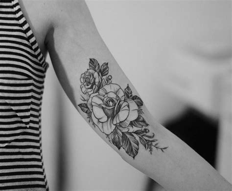 rose tattoo on inner arm inner arm pinteres