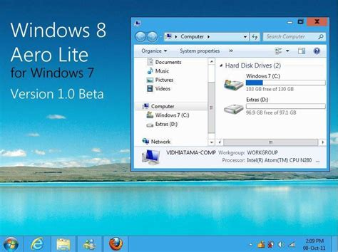 download theme windows 7 aero glass windows 7 aero glass theme for xp download
