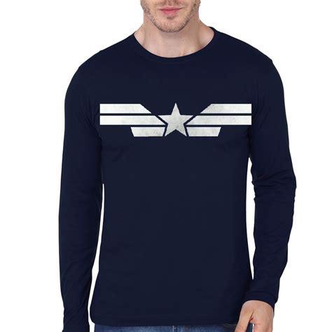 captain america navy blue sleeve t shirt swag shirts