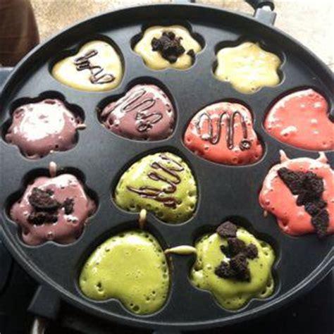 Cetakan Kue Lumpur Vicenza snack maker cetakan kue cubit motif bunga hati 12 lubang