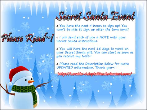 secret at work secret santa event announcement by bunny tsukino on