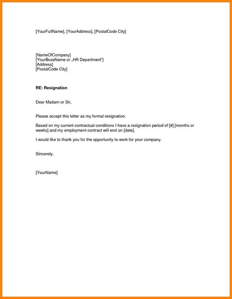 9 resignation letter one month notice handy resume