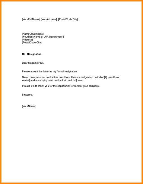 Resignation Letter Quit 9 Resignation Letter One Month Notice Handy Resume