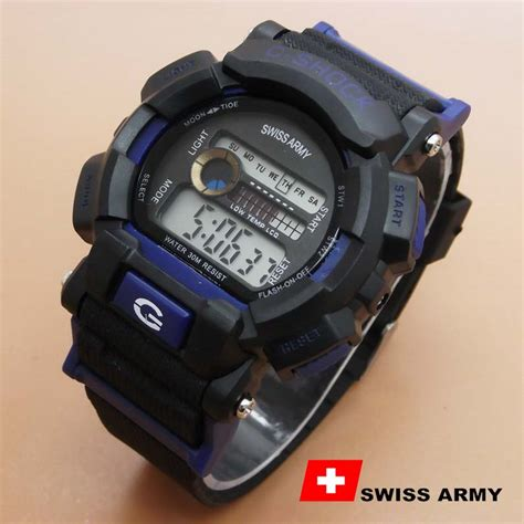 Jam Tangan Swiss Army Indonesia jual jam tangan swiss army rubber h black blue ab1982 di