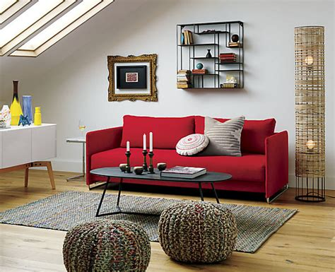 decorating with red couch small cabin decorating ideas and inspiration simple