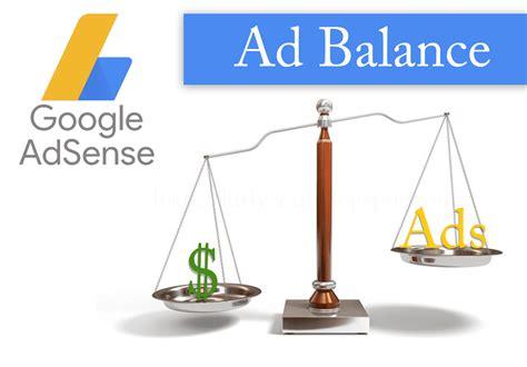 adsense balance cara setting ad balance google adsense agar earning