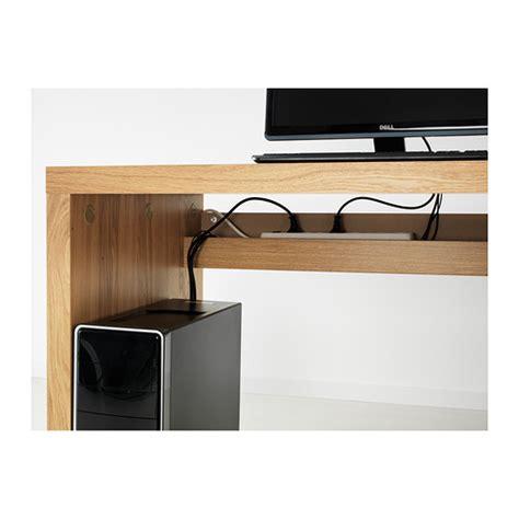 Malm Computer Desk Malm Desk Oak Veneer 140x65 Cm Ikea