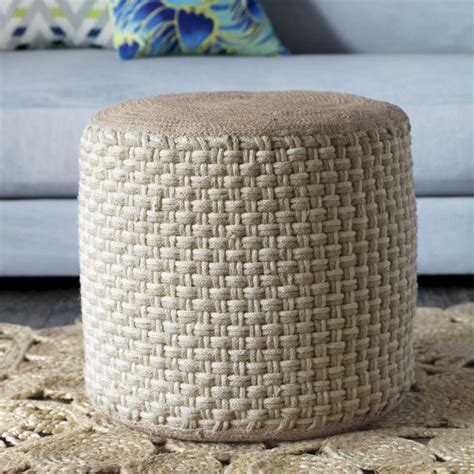 jute pouf ottoman jute pouf decorate the house pinterest jute poufs
