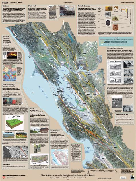 san francisco fault map san francisco bay area earthquakes