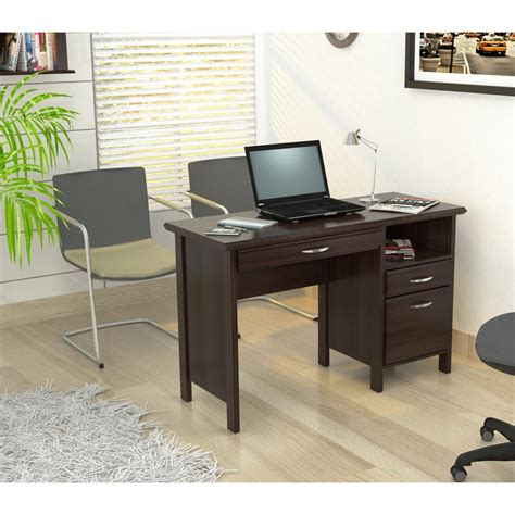 Overstock Computer Desks Inval Softform Espresso Computer Desk From Overstock