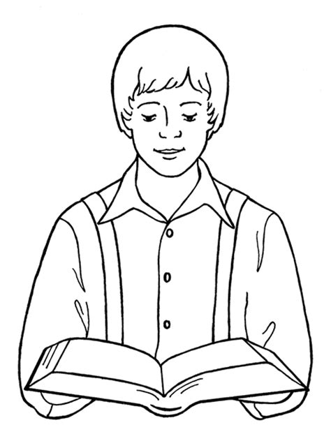 Joseph Smith Reading Scriptures Joseph Smith Coloring Pages
