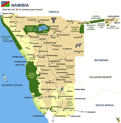 printable road map of namibia image gallery namibia map of airports