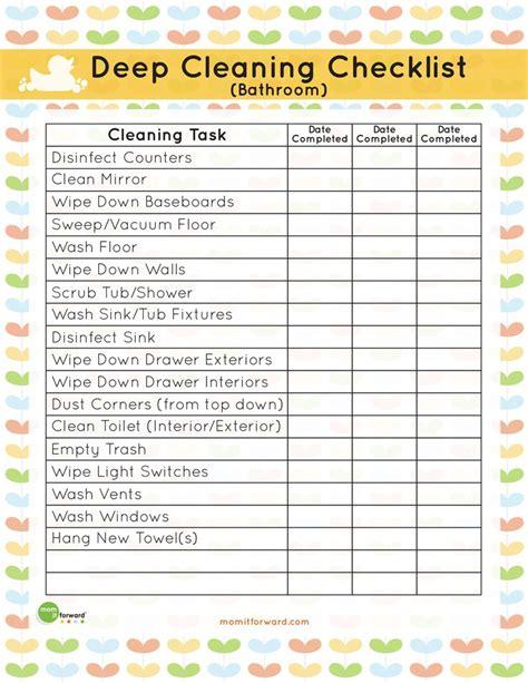 housekeeping bathroom checklist how to clean a bathroom checklist bathroom deep cleaning