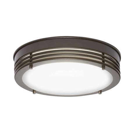 home decorators collection rubbed bronze led flush