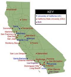 uc california map de anza college transfer planning uc and csu map