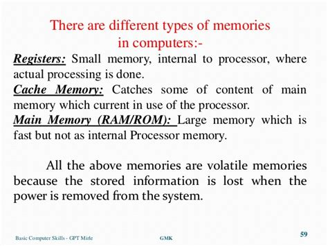 basic computer skills a seminar by mohan kumar g lecturer