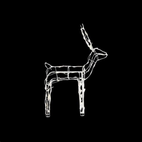 home accents holiday 48 in led lighted wire reindeer