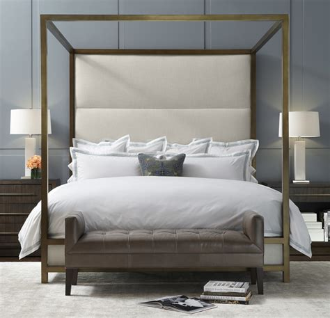 modern 4 poster bed banks four poster bed modern by mitchell gold bob