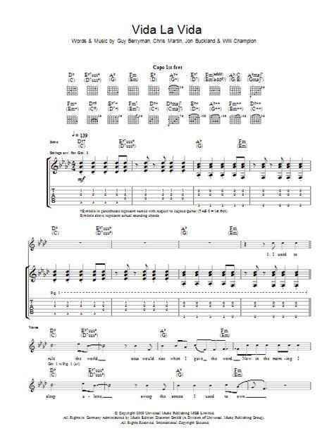 Guitar Tutorial Viva La Vida | viva la vida by coldplay guitar tab guitar instructor