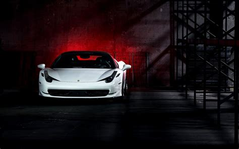 Car White Wallpaper by 458 Italia White Car Hd Wallpaper Free High