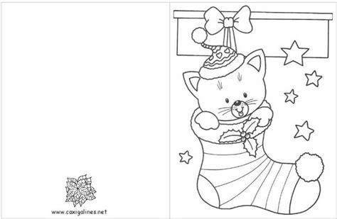 imagenes tarjetas navideñas para imprimir 5 postales de navidad para colorear menudosbebes com