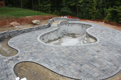 Shale Patio by Southern Nh Pool Build