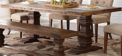 Classic Dining Tables Normandy Vintage Distressed Dining Table From New Classic Coleman Furniture
