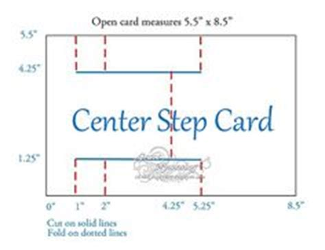 Centre Stepper Card Template A4 by 1000 Images About Cards Step Cards On Step
