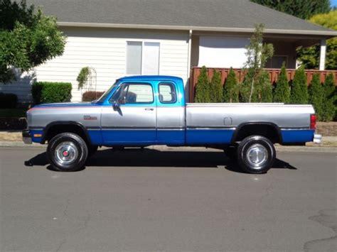 1992 dodge ram d250 2500 w250 4x4 cummins diesel low miles 1993 1991 1990 1989