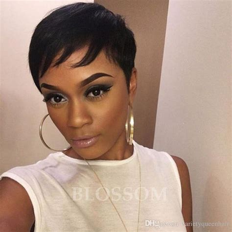 pixie cut black people cheap human wig african american short wigs for black