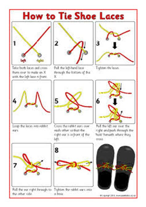 how to tie shoe laces sheet sb3623 sparklebox