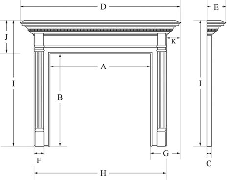 Fireplace Mantel Proportions by Measuring For A Surround Mantel