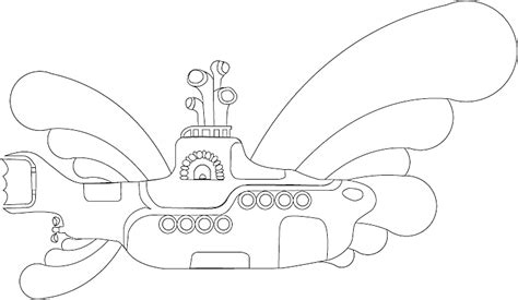 coloring pages yellow submarine coloring pages