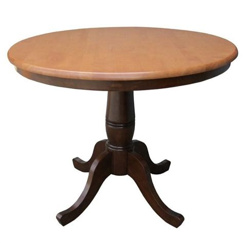 36 quot dining table in cinnamon espresso k58 36rt