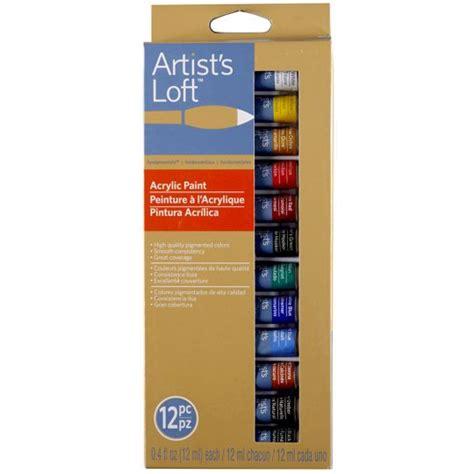 acrylic paint set artist loft artist s loft fundamentals acrylic paints