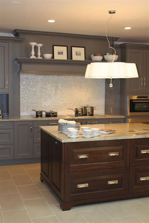 gray countertops with brown cabinets interior design inspiration photos by aidan design