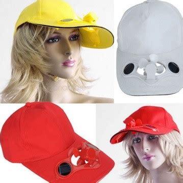 Topi Kipas Tenaga Solar Kuning topi kipas angin tenaga matahari tetap fresh seharian harga jual