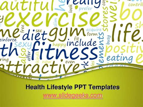 ppt templates free download exercise health lifestyle ppt templates