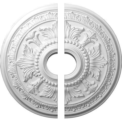 ekena millwork tellson ceiling medallion unfinished