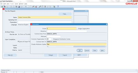 create common bills of material oracle apps community