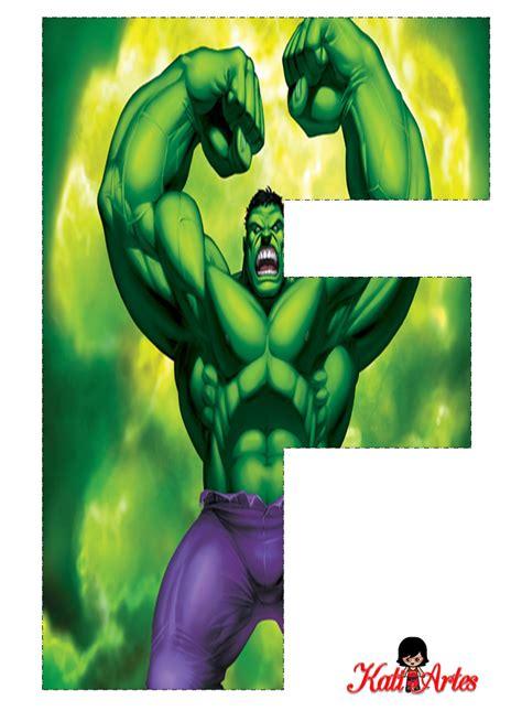 letras decoradas hulk hulk free alphabet alfabeto gratis de hulk festivos y