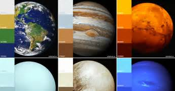 planets colors color palettes of the solar system