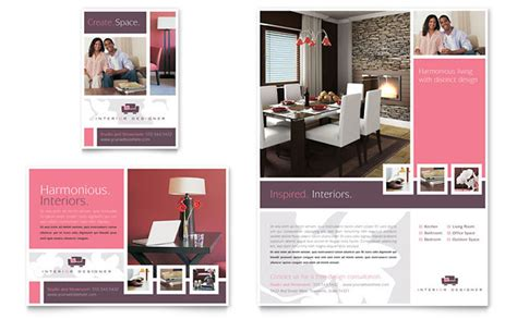 advertising flyer template free interior designer flyer ad template design