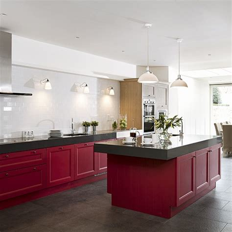 colour kitchen ideas red kitchen colour ideas home trends housetohome co uk