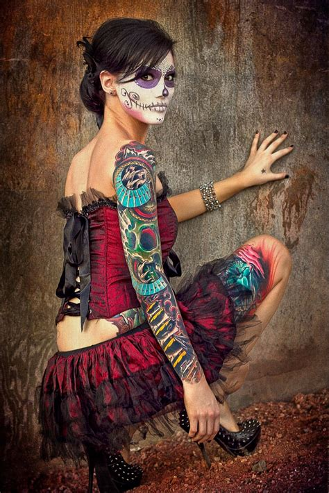 make up tattoos 293 best day of the dead make up images on